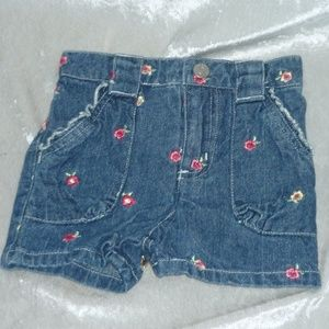 NEW Arizona Baby Girl Denim Shorts size 12M